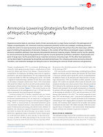 Ammonia-Lowering Strategies for the Treatment of Hepatic Encephalopathy.
