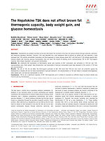 The Hepatokine TSK does not affect brown fat thermogenic capacity, body weight gain, and glucose homeostasis
